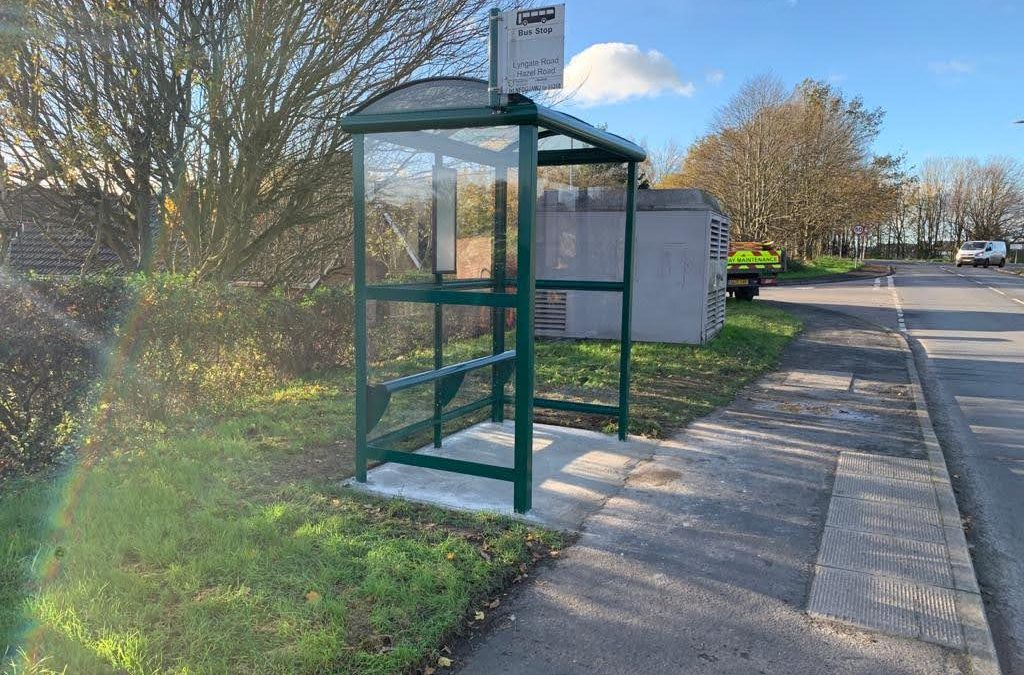 New Bus Stop on Lyngate Road